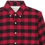【冬の男の無印シャツ】上質の織地がステキ&暖か♪