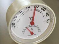 無印っぽい!100均卓上タイプのアナログ温湿度計