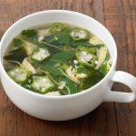無印「オクラ入りねばねば野菜のスープ」で健康志向♪